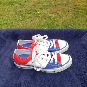 Converse All Star Low Top Shoes Red White Blue Men